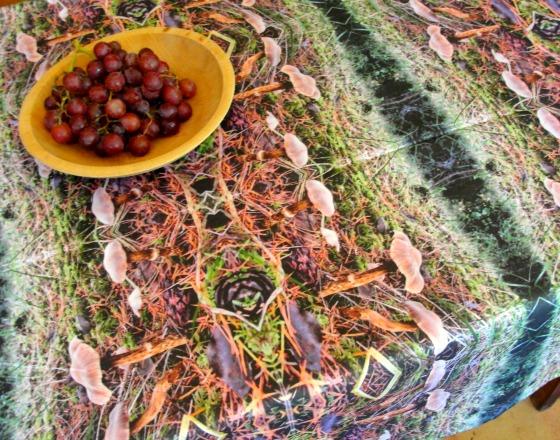 November Mushrooms Tablecloth